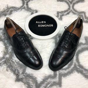 Allen Edmonds Fifth Avenue Black Cap-Toe Oxfords